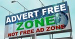 Ad free zone billboard