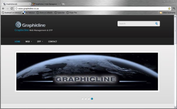 Graphicline.co.za frontpage banner