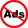 no ads roadsign style