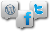 Connect with Facebook Twitter and WordPress