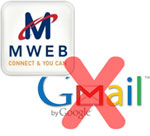 Mweb blocking Gmail?