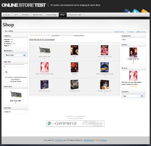 osCommerce with Mystique screenshot