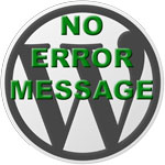 no wordpress error messages