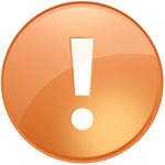 wordpress error message orange icon