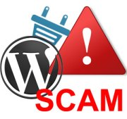 wordpress plugin scam image