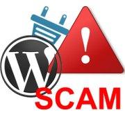 wordpress plugin scam image