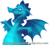 blue drupal views friendly dragon icon