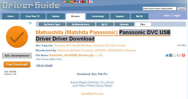 panasonic rr-us450 driver