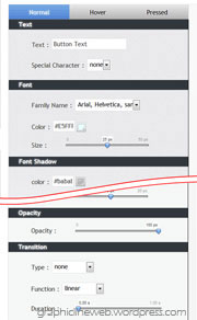 wp css3 button creator plugin panel graphic