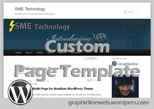 custom wordpress page template featured image