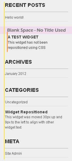 widget position css fix screenshot