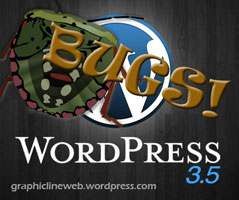 wordpress 3.5 bug cartoon image