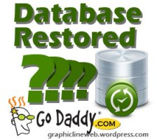 godaddy restores database icon