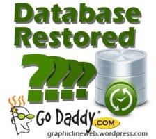 godaddy restores database icon