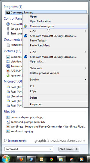 how to find a file in windows 7 command line