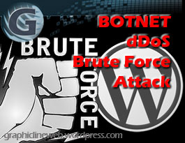 botnet ddos brute force attack icon