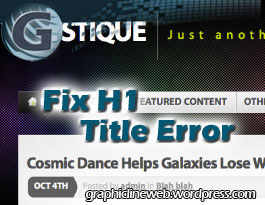 fix mystique theme h1 title error icon