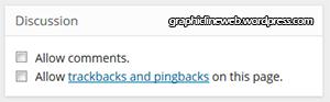 image of WordPress trackback post settings panel