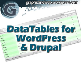 wordpress and drupal datatables thumbnail image